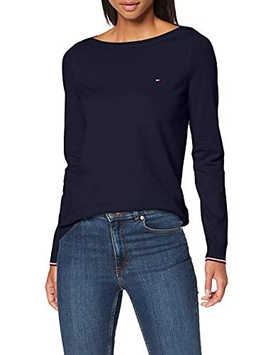 Tommy Hilfiger Damen New Ivy Boat-nk SWTR Ls Sweatshirt, Blau (Desert Sky), XS