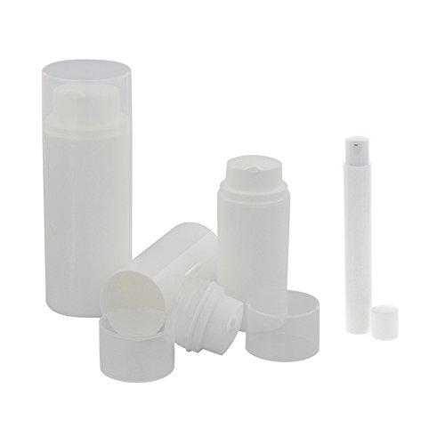Leere Kosmetex Pumpspender, Airless Pumpspender, Lotion- Creme- und Gelspender zum selbst Befüllen, 3er Set