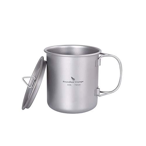 iBasingo Taza de té de titanio para camping, taza de café