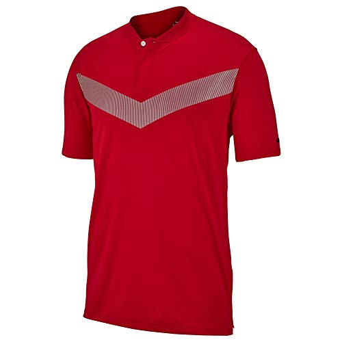 Nike TW M NK Dry Vpr Polo Rflct BLD Homme, Gym Red/Noir, L