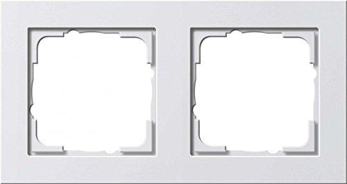 Gira Rahmen 021222 2fach E2 reinweiss matt, Weiß