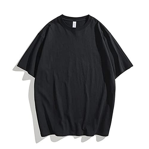 Nuevo 2021 Camiseta Hombre Manga corta Verano Color sólido Moda Diario Suelto Casual T-shirt Pesado Camiseta Blusas camisas originales Cuello redondo suave básica Cómodo Deportes camiseta