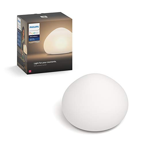 Philips Hue White Ambiance Wellner Dimmable LED Smart Table Lamp (Works with Alexa Apple HomeKit and Google Assistant)