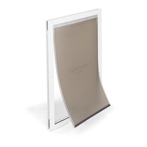 PetSafe Freedom Aluminum Dog and Cat Door - Durable Frame - X-Large Pets, PPA00-10862, White