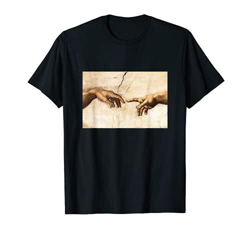 Creation of Adam Michelangelo Die Erschaffung Adams Kunst T-Shirt