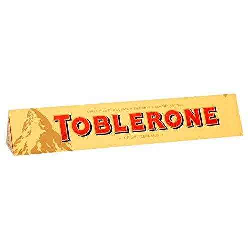 Toblerone Milk Chocolate de Barra Grande 360g - Paquete de 6