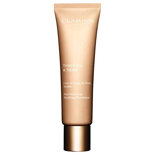 Clarins Teint Pores & Matité Face Foundation, 04 Nude Amber, 30 ml