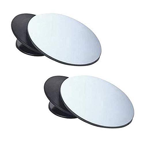 Amacoam 2 Stück Totwinkel Spiegel Toter Winkel Spiegel Auto Toterwinkelspiegel 360 Grad Rotation Verstellbar Weitwinkelspiegel Selbstklebende Hilfsspiegel für Alle Autospiegel Konvexer Spiegel