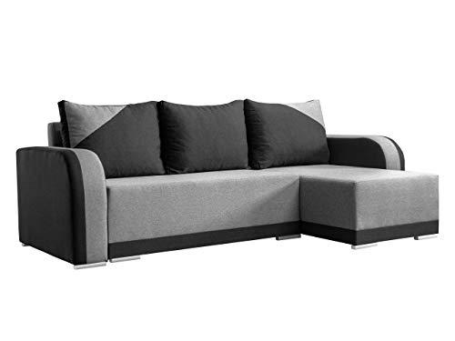 Mirjan24 - Sofá esquinero de lindo con función de descanso y canapé, sofá de esquina, sofá de esquina universal, forma de L, sofá, sofá, salón