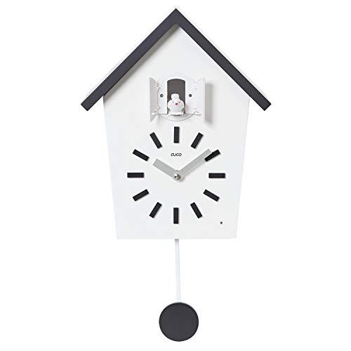 Cuco Clock Orologio a cucù Agriturismo con Orologio a Pendolo a Parete Design Orologio a Pendolo Moderno Orologio a cucù in Legno a cucù cronometro a Riposo Notturno Nero