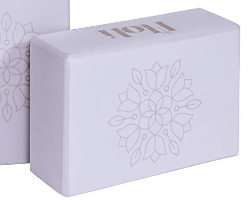 Holi Infinite Mandala Bloom Blocchi – Mattoni per Pilates | Grigio | 23 x 15 x 8 cm | 1X | In Schiuma Eva ad Alta Densità | Non Tossico | Ecologico | Mattone di Posizionamento