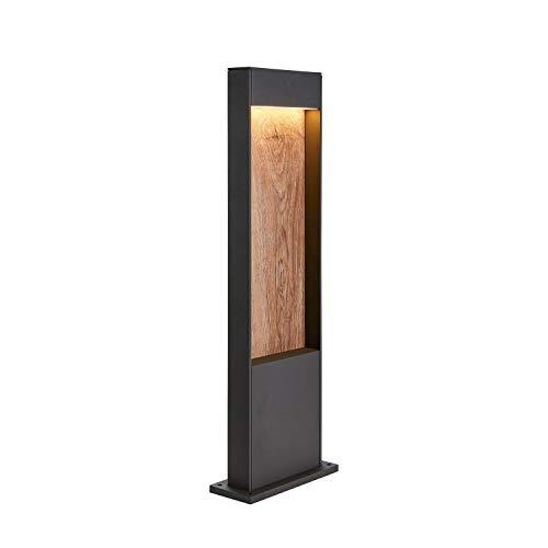 SLV LED Außenleuchte FLATT 65 | Design Außenstandleuchte, Außenbeleuchtung, Outdoor LED Wege-Leuchte, Pollerleuchte, Stehleuchte Garten-Lampe, Gartenbeleuchtung | CCT Switch (3000K/4000K), 400lm, 9,7W