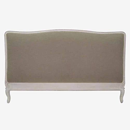 Better & Best 1749980 Cabecero blanco decapado para cama de 180 tapizado de madera y algodón