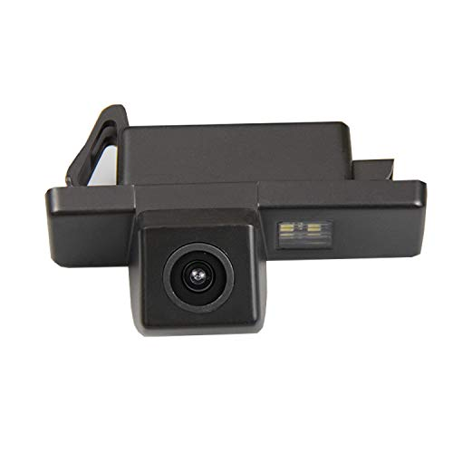 HD 720p Farb Rückfahrkamera Kennzeichenbeleuchtung Kamera Einparkhilfe mit Distanzlinien kompatibel für Peugeot 408 308 307cc 301 Peugeot RCZ 307 Cross 2C Hatchback Infiniti ESQ Q50L