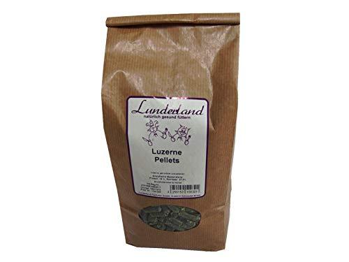 Lunderland Luzerne Pellets 2kg Einzelfuttermittel für Hunde, Katzen und Nager