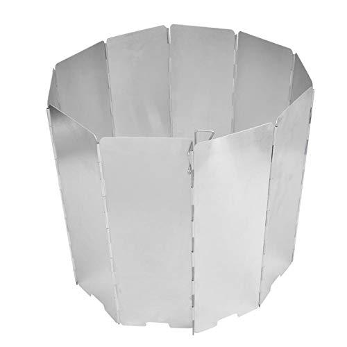 10 pièces anti-thermique en alliage d aluminium de camping cuiseur pare-vent équipement de camping répond à tous vos besoins pour d autres activités de plein air sac à dos camping pour(Silver)