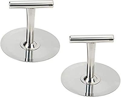 Korean Style Pancake Hotteok Hand Presser All Stainless Steel T-shape Handle Easy to Press Round Plate 2 PCS