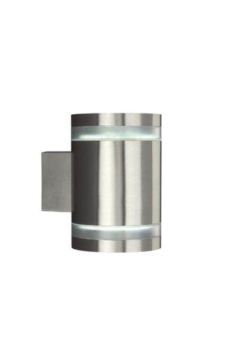 Massive 162384710 outdoor muurverlichting roestvrij staal GX53 7 W fluorescerend - buitenverlichting (outdoor muurverlichting, roestvrij staal, IP44, tuin, binnenplaats, I)
