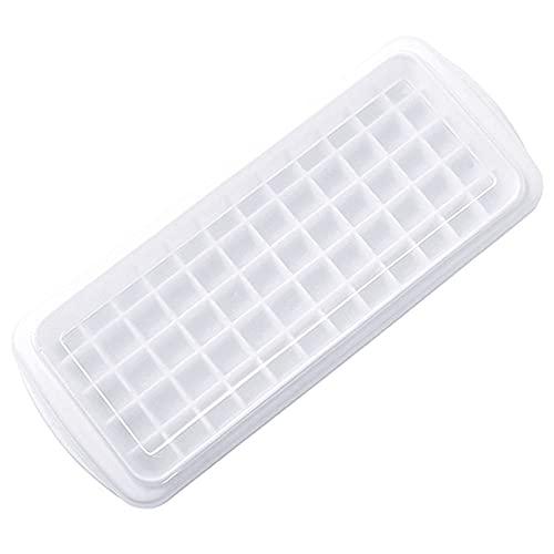 Bandejas para cubitos de hielo TreeLeaff, tapa extraíble sin derrames, herramienta de gel de silicona Lce de fácil liberación, caja de hielo apilable para cocina, máquina de hielo