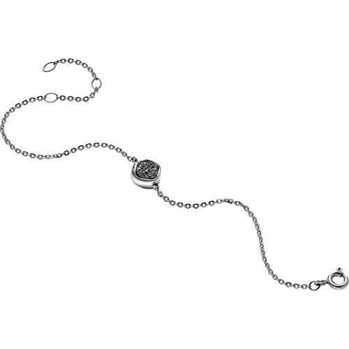 Breil Damen-Armreif Edelstahl Kristall grau 21 cm - TJ1481