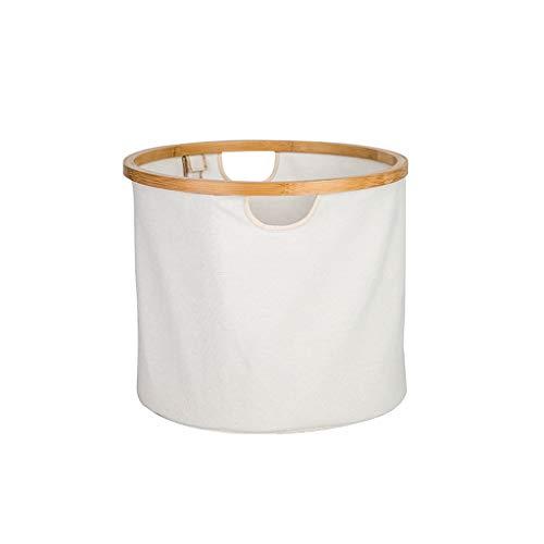 Blanc de Blanc de Tissu de débris de ménage de tête de lit de Salle de Bains de Panier de Rangement ZHJING (Color : White)
