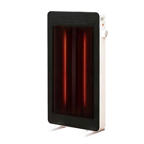 SHPEHP Bajo Consumo Space Heater,Elemento Calefactor De Tubo De Cristal Negro Baño Impermeable Calentamiento rápido Calefactor Vertical Termostato Uso De Oficina E Interior-Negro Un