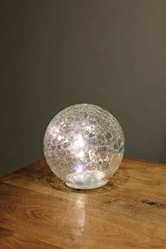LED-bal/bal van helder glas, diameter 10 cm, warm licht