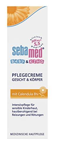 Baby & Kind Pflegecreme Gesicht & Körper mit Calendula 75 ml, Intensivpflege für sensible Kinderhaut, hautberuhigend bei Reizungen und Rötungen