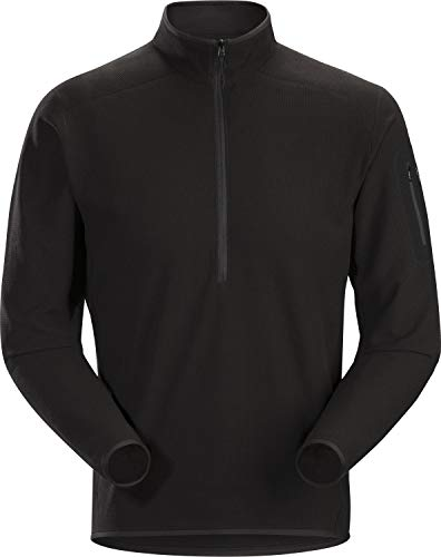 Arc'teryx Herren Delta lt Zip Neck Men's Pullovers, Black, L