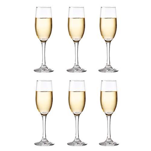 Copas De Copa De Champán De Cristal Sin Plomo, 190 Ml, Transparentes (juego De 6), Perfectas Para El Hogar, Restaurantes Y Fiestas