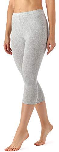 Merry Style Damen Leggings 3/4 aus Viskose MS10-144 (Melange, M)