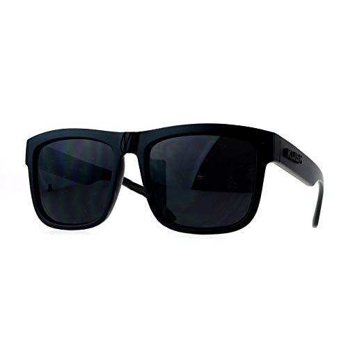 Kush Mens All Black Gangster Oversize Horn Rim Cholo Sunglasses (matte black 7038, 52)