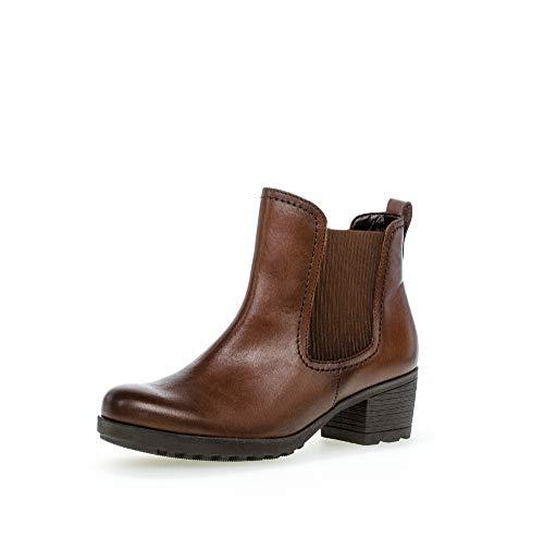 Gabor Damen Stiefeletten, Frauen Chelsea Boots,Reißverschluss,Optifit- Wechselfußbett, Boots Stiefel Bootee Booties,Sattel (Effekt),38.5 EU / 5.5 UK