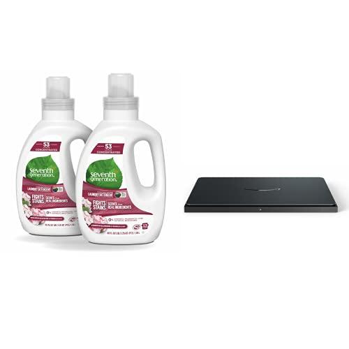 "Seventh Generation Concentrated Laundry Detergent, Geranium Blossom & Vanilla, 40 oz, Pack of 2 + Amazon Dash Smart Shelf (Medium 12"" X 10"")"
