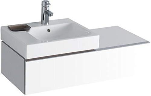 Keramag Waschbeckenunterschrank iCon, für Waschtisch 124150, 89x24cm x47,7cm Alpin Hochglanz