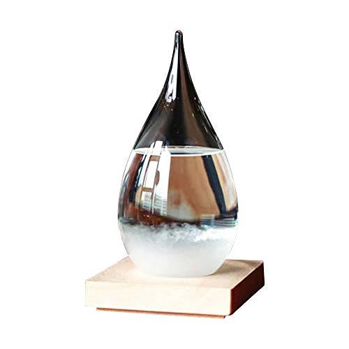 Predicción del tiempo Crystal Weather Forecasting Storm Glass Creativo Elegante Desktop Drops de cristal de tormenta Artesanía meteorológica Pronóstico Botella Barómetro