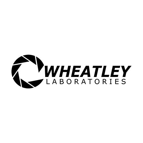 Bargain Max Decals - Aperture Science Wheatley Laboratories Portal Logo Sticker Decal Notebook Car Laptop 8' (Black)