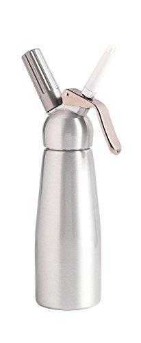 MASTRAD - 0,5 l Siphon-Sahne-Saucen Chantilly Hot oder Cold Foams - Abnehmbarer Kopf - Ultrabeständiges eloxiertes Aluminium - Ergonomisch - Lieferung mit 3 Düsen und Reinigungsbürste