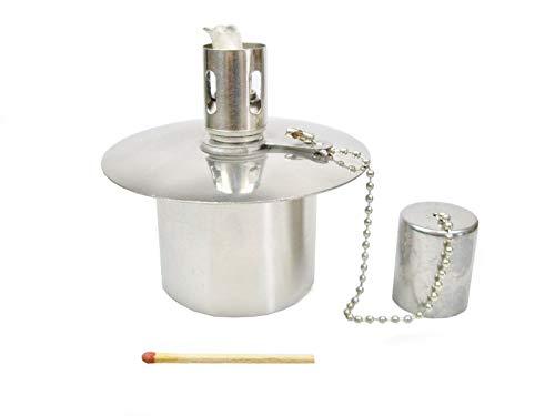 Öllampe Einsatz - Ölbehälter Gartenfackel - Edelstahl - ~60 CCM Inhalt - - EIN Qualitätsprodukt von Hannas Laden