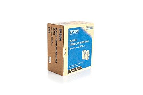 Set de Ahorro de tóner original Epson 605/Epson Aculaser C 9300N/C13S050609–Set de Ahorro de tóner negro para 2x 6.500Páginas–2Unidades