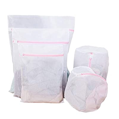 Nrpfell 5 PCS Delicates Laundry Bags Protection Washing Drying Bag Washing Bags