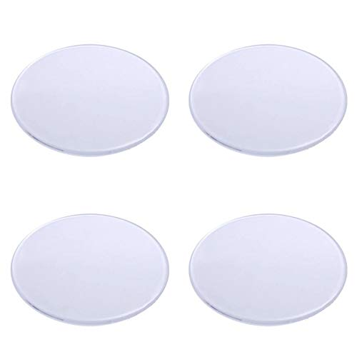 Base ronde en plastique transparent (polystyrène) - 10 cm de diamètre - 4 pièces - Idéal pour support de maquettes, figurines, travaux manuels, etc. (10 x 10)