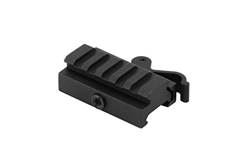 Monstrum Tactical Low Profile Picatinny Riser Mount with Quick Release, for Red Dots, Scopes, and Optics (0.5 inch H x 2.5 inch L)