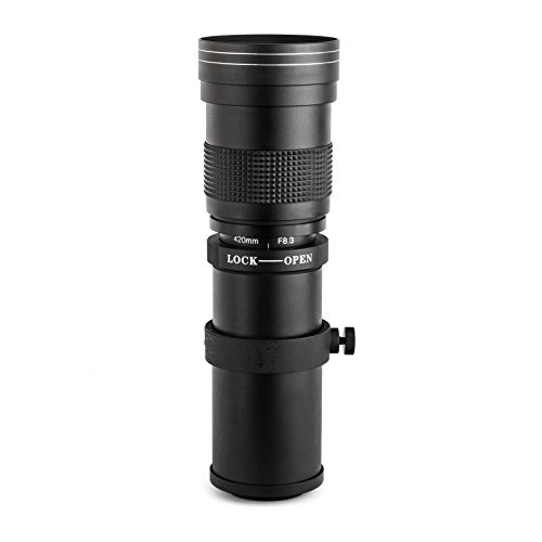 Opteka 420-800mm f/8.3 HD Telephoto Zoom Lens for Sony E-Mount a9, a7r, a7s, a7, a6600, a6500, a6400, a6300, a6100, a6000, a5100, a5000, a3000, NEX-7, 6, 5T, 5N, 5R and 3N Digital Mirrorless Cameras