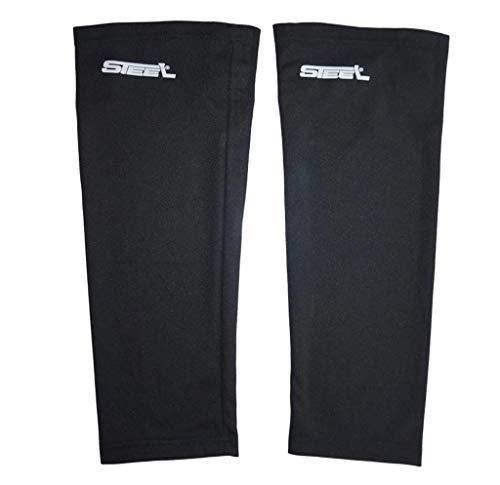 Steel Eishockey Stutzen Textil-Netzgewebe Mesh Farbe schwarz, Größe Senior