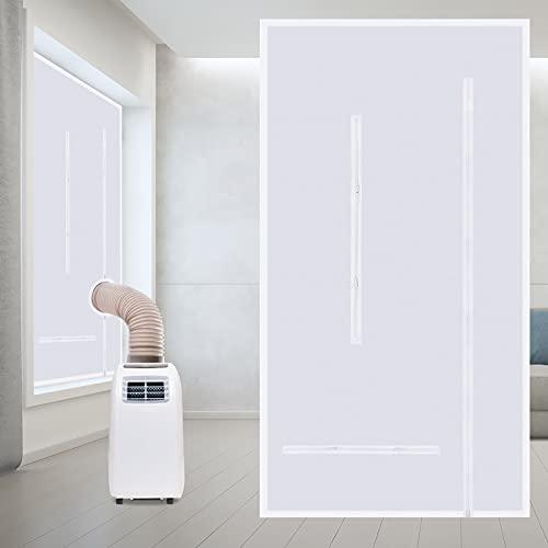Faburo Guarnizione Universale per Finestre per Condizionatore Portatile, 210x90CM, per Tutti Climatizzatori Mobili, Facile da Montare con Zip