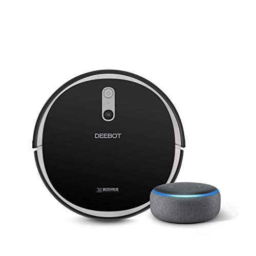 ECOVACS DEEBOT 711 Robot Vacuum Cleaner with Smart Navi 2.0 bundle with Echo Dot (3rd Gen) Charcoal Gray