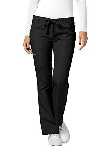 Adar Universal Divise Sanitarie Donna - Pantaloni a Gamba Dritta con Cordoncino per Camice - 510 - Black - S