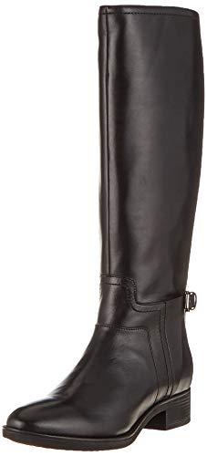Geox Damen D FELICITY B Hohe Stiefel, Schwarz (Black C9999), 37 EU