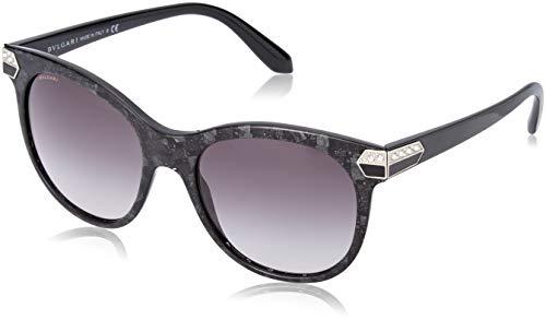 Bulgari Damen 0Bv8185B 54128G 55 Sonnenbrille, Schwarz (Black/Grey)